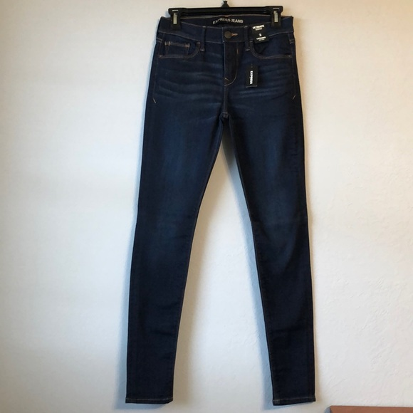 Express Ultimate Stretch Mid Rise Skinny Jeans